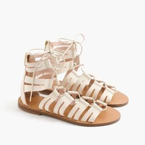 J.Crew gladiator lace up sandals!